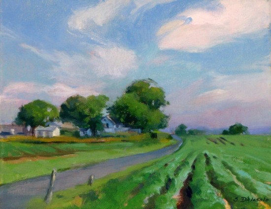 """Summer Potato Field, Zaluski Gaston preserve"" by Susan D'Alessio."