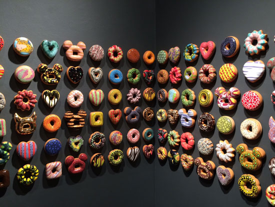 """Donut Rush"" installation at Lyons Wier Gallery, New York."