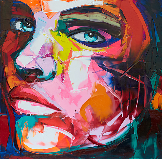 """No 898"" by Françoise Nielly. Oil on canvas, 31.5 x 31.5 inches."
