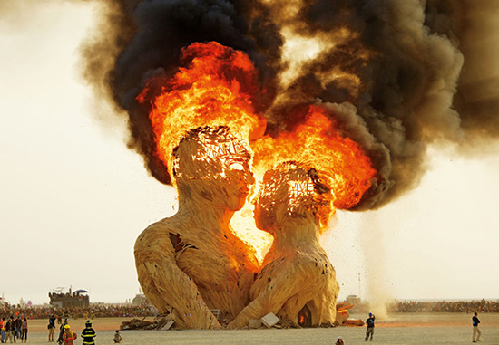 "Photo from ""Art of Burning Man"" by photographer NK Guy. Published by Taschen."