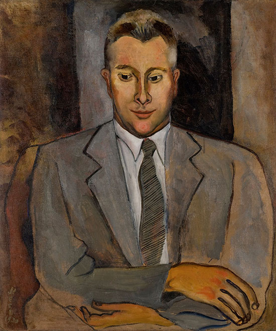 """Portrait of Ben Medary"" by Alice Neel, 1930. Oil on canvas, 30 x 25.125 inches. Rick and Monica Segal collection. Courtesy the New York Academy of Art."