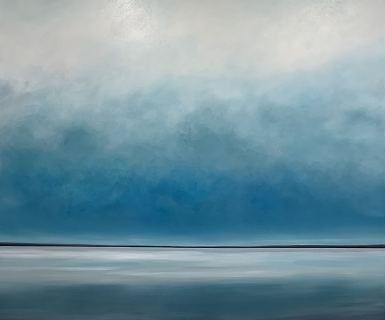 """Bostwick Bay"" by Kurt Giehl, 2019. Oil on canvas, 60 x 72 inches. Courtesy of the artist."